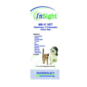 InSight MS-11 VET Urine Test Strips (50), Urobiligogen, Glucose, Bilirubin, Ketone, Specific Gravity, Blood, pH, Protein, Creatinine, Nitrate, Leucocytes