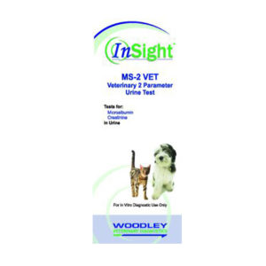 InSight MS-2 VET Urine Test Strips (50 stk.), Microalbumin & Creatinine (Kopier)