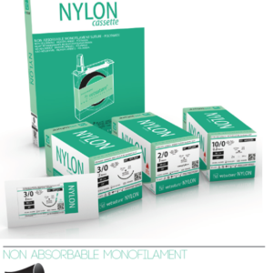 Vetsuture NYLON 1 (12 stk.) – Reverse Cutting needle – Triangular – Straight (NYL4SN)
